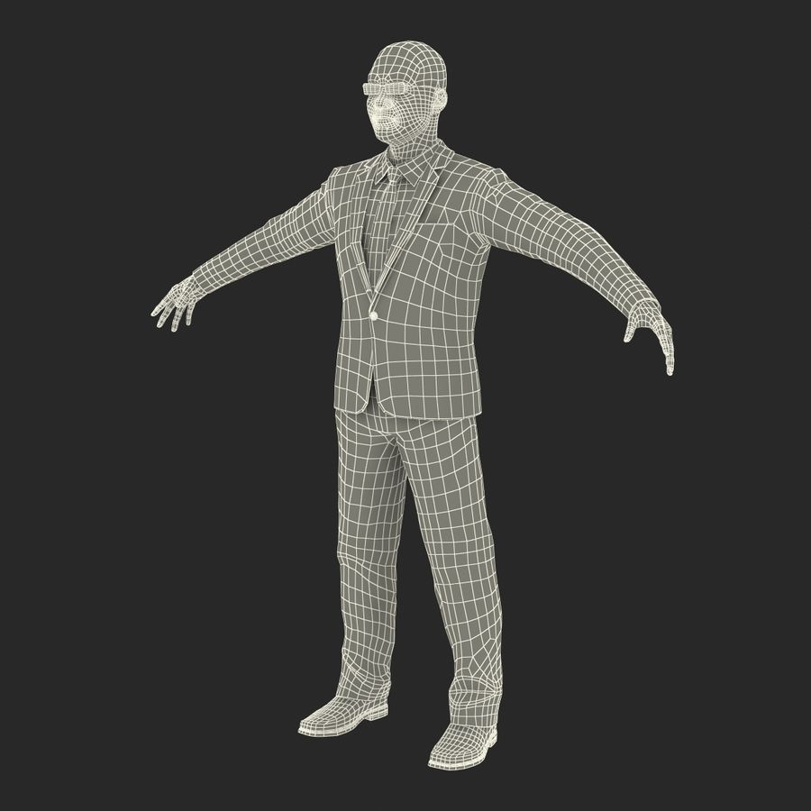Asian Businessman 3D Model royalty-free 3d model - Preview no. 33