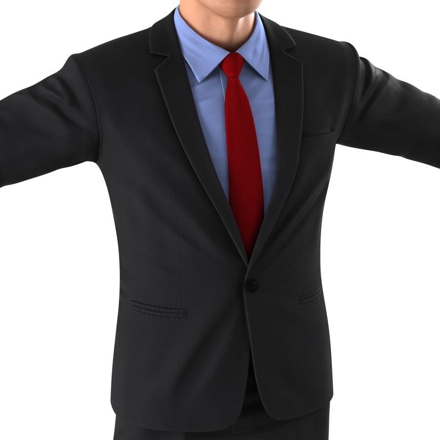Asian Businessman 3D Model royalty-free 3d model - Preview no. 14