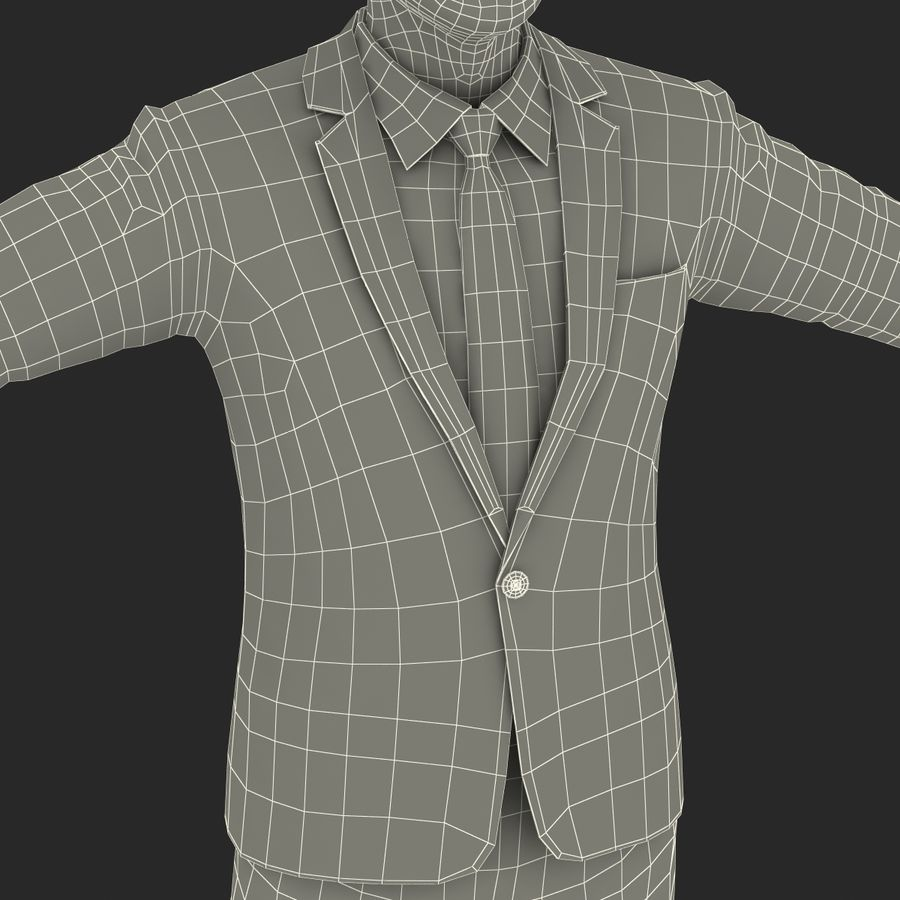 Asian Businessman 3D Model royalty-free 3d model - Preview no. 36