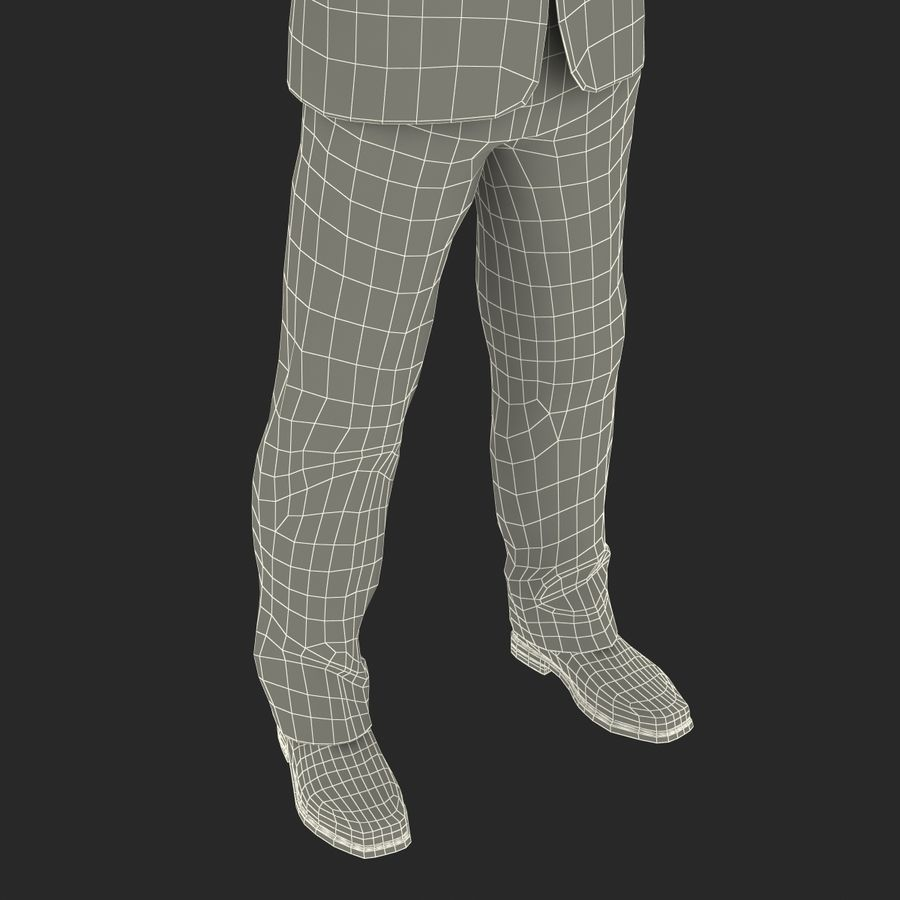 Asian Businessman 3D Model royalty-free 3d model - Preview no. 39