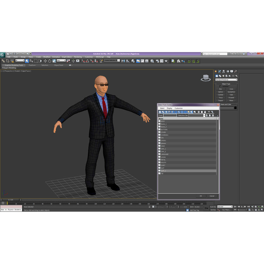Asian Businessman 3D Model royalty-free 3d model - Preview no. 31