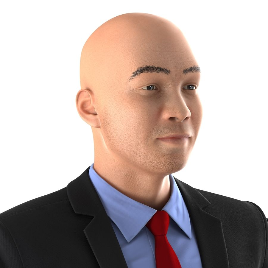 Asian Businessman 3D Model royalty-free 3d model - Preview no. 20