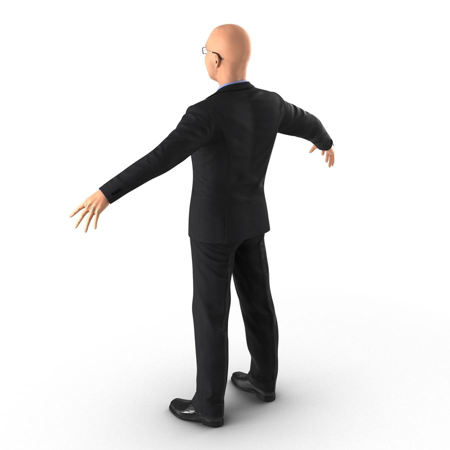 Asian Businessman 3D Model royalty-free 3d model - Preview no. 8
