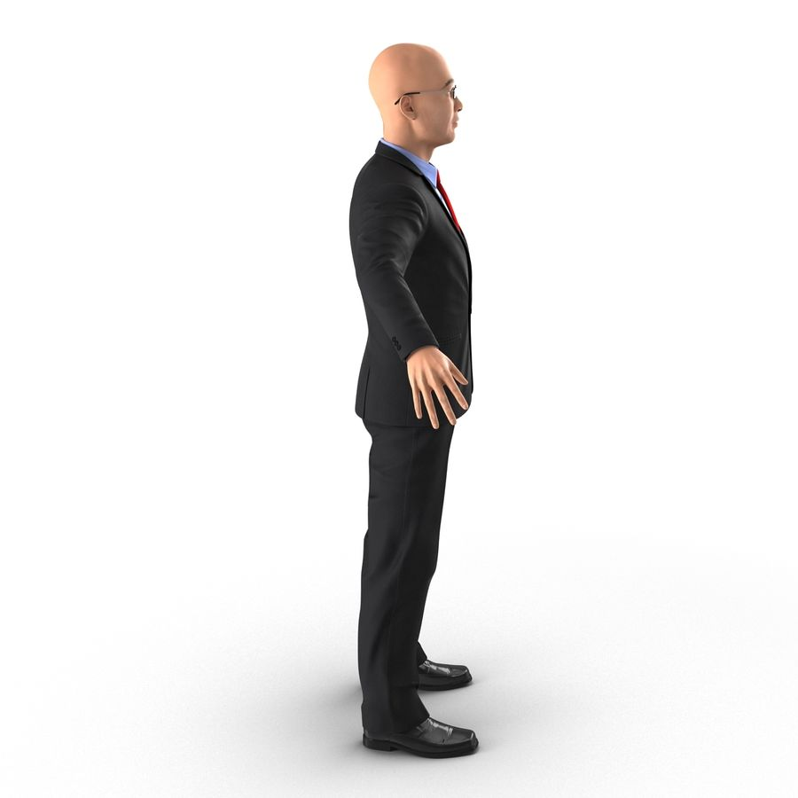 Asian Businessman 3D Model royalty-free 3d model - Preview no. 5