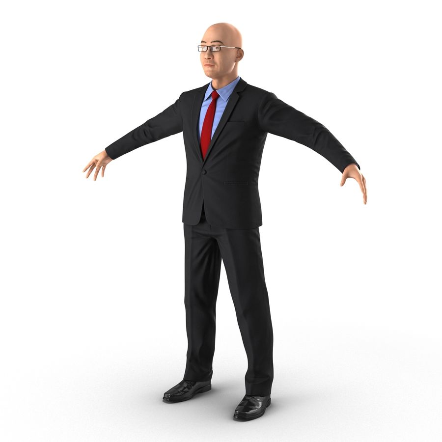 Asian Businessman 3D Model royalty-free 3d model - Preview no. 3