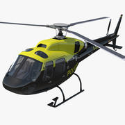 Police Aviation Eurocopter AS 355 3d model