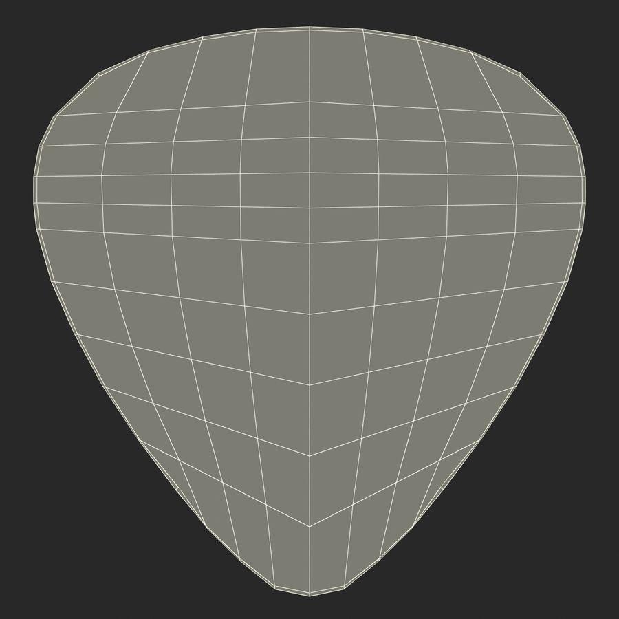 Guitar Pick royalty-free 3d model - Preview no. 19