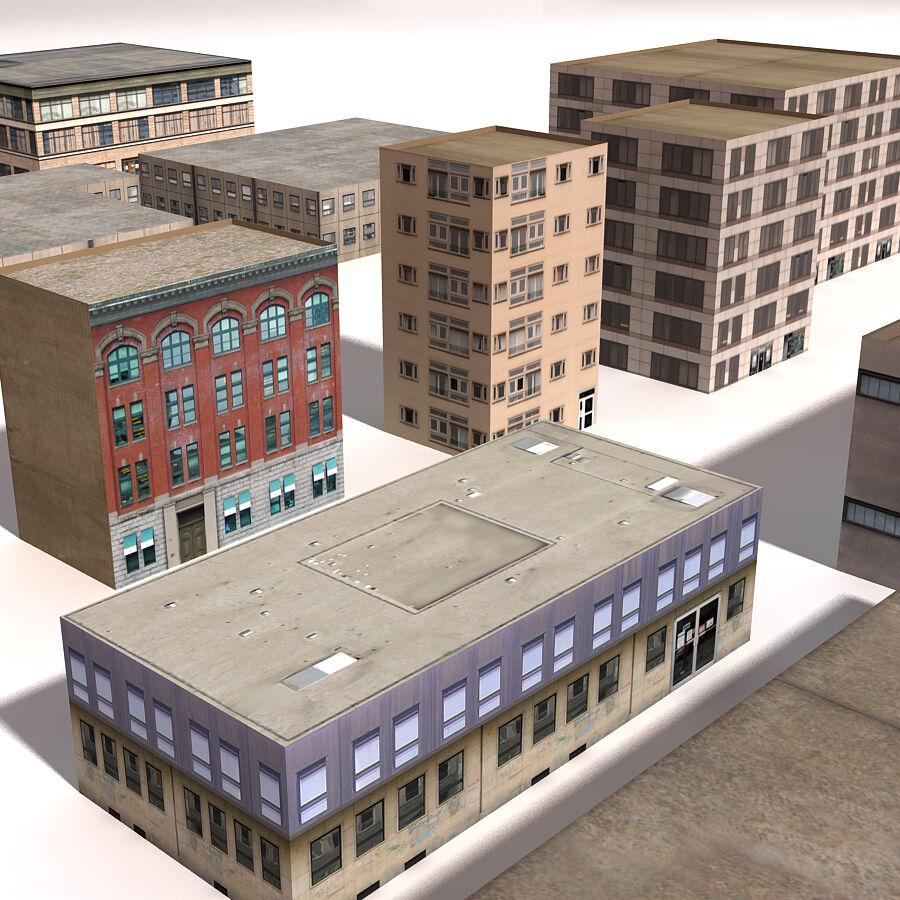 Edificios urbanos de la ciudad royalty-free modelo 3d - Preview no. 24