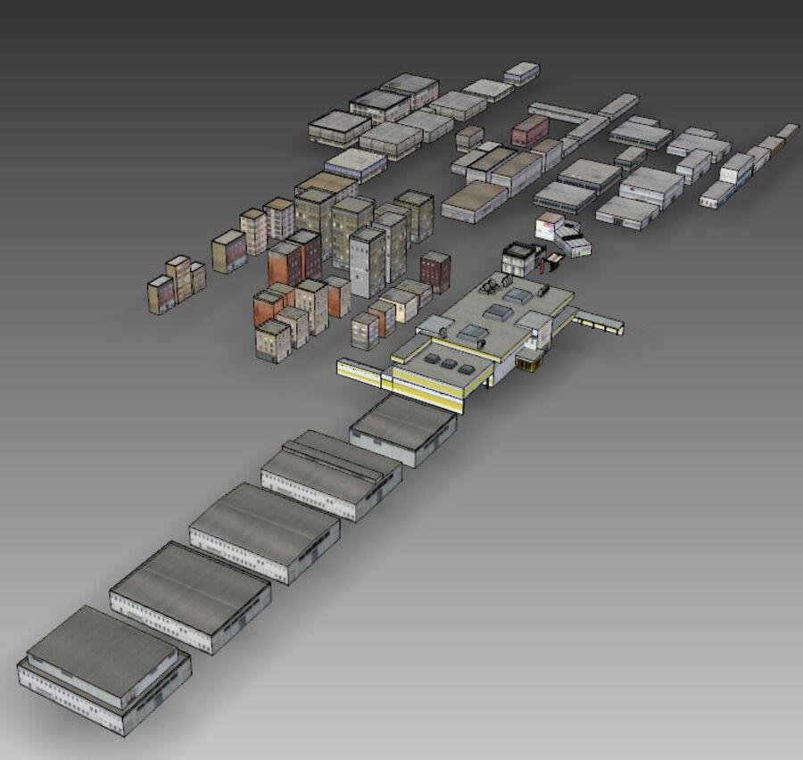 Edificios urbanos de la ciudad royalty-free modelo 3d - Preview no. 25