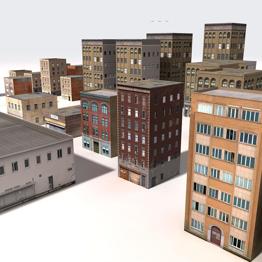 Edificios urbanos de la ciudad royalty-free modelo 3d - Preview no. 18
