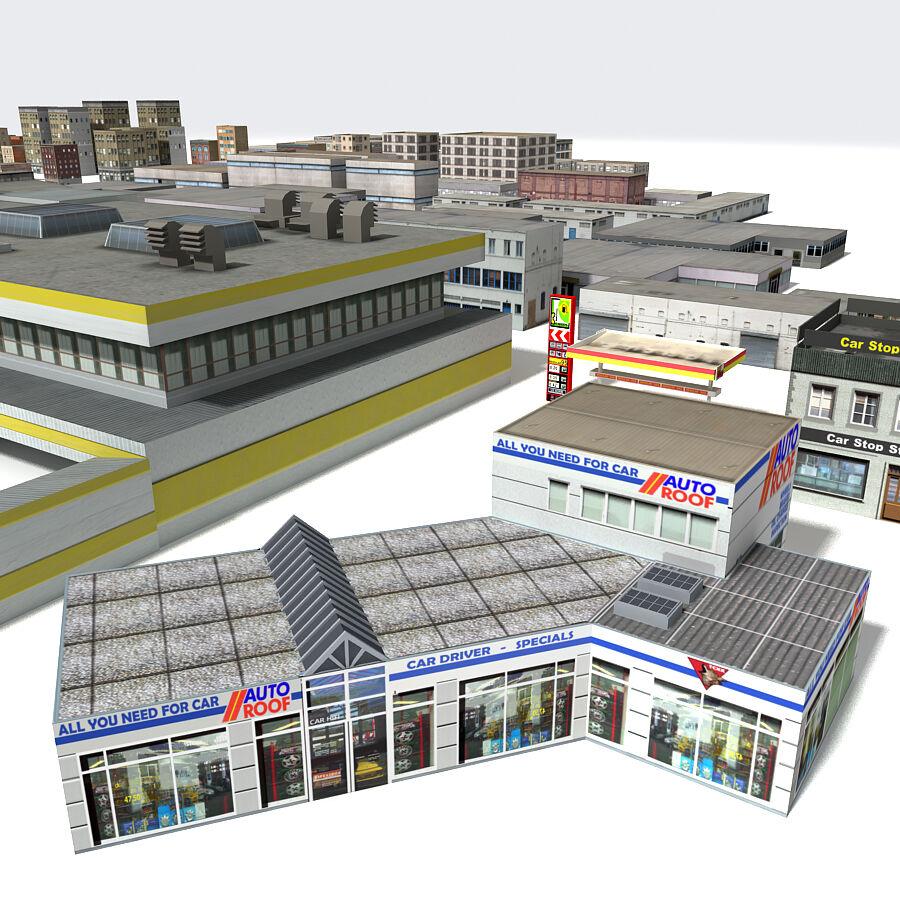 Edificios urbanos de la ciudad royalty-free modelo 3d - Preview no. 4