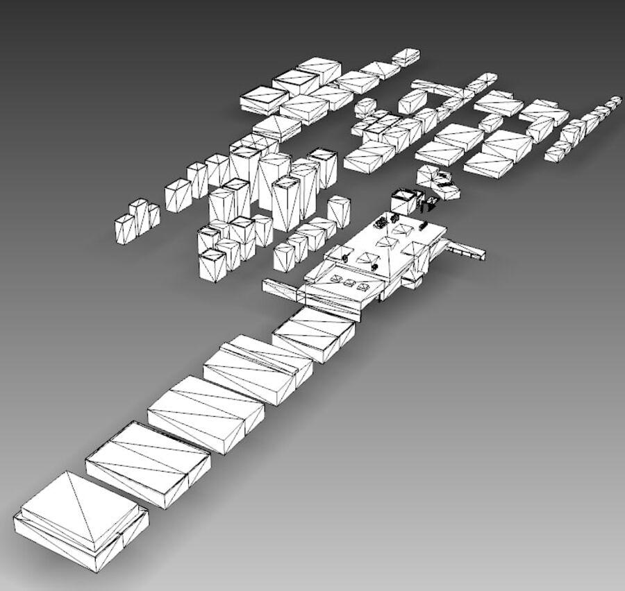 Edificios urbanos de la ciudad royalty-free modelo 3d - Preview no. 26