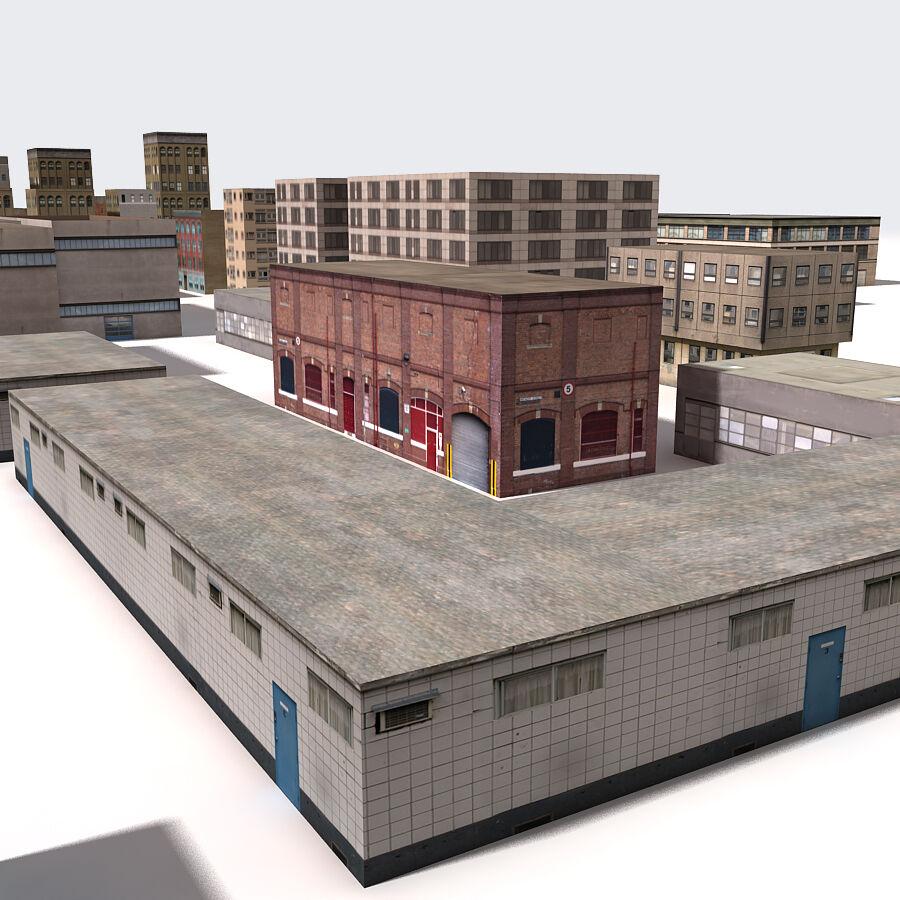 Edificios urbanos de la ciudad royalty-free modelo 3d - Preview no. 22