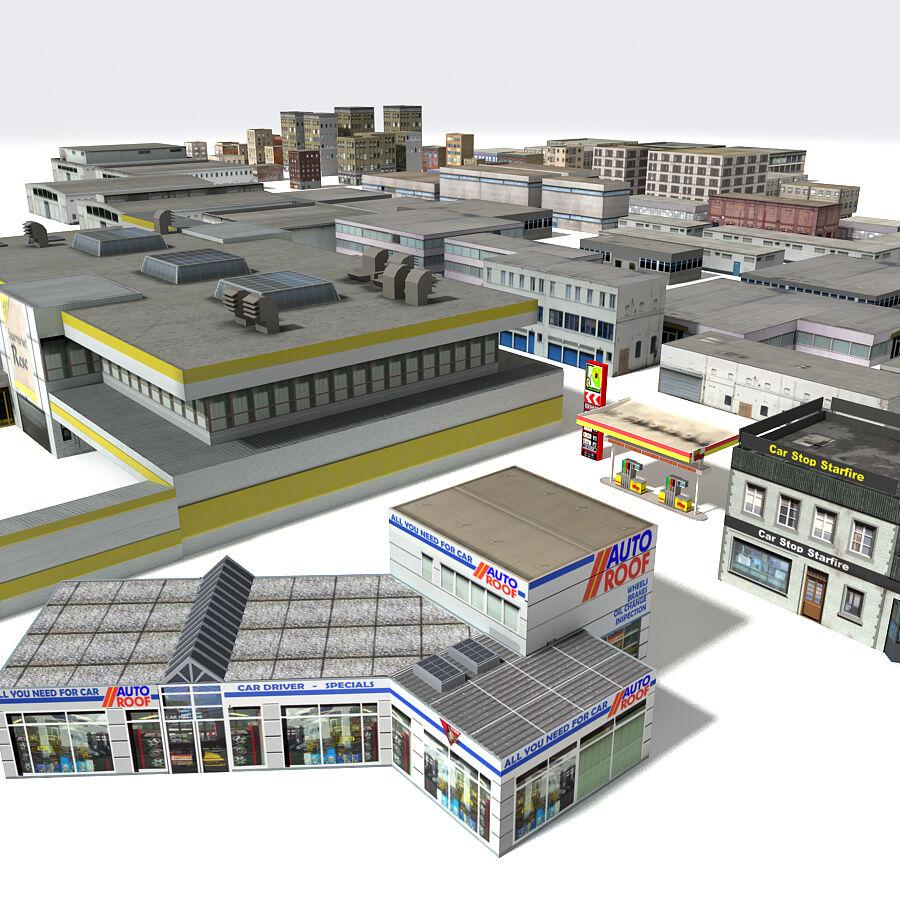 Edificios urbanos de la ciudad royalty-free modelo 3d - Preview no. 2