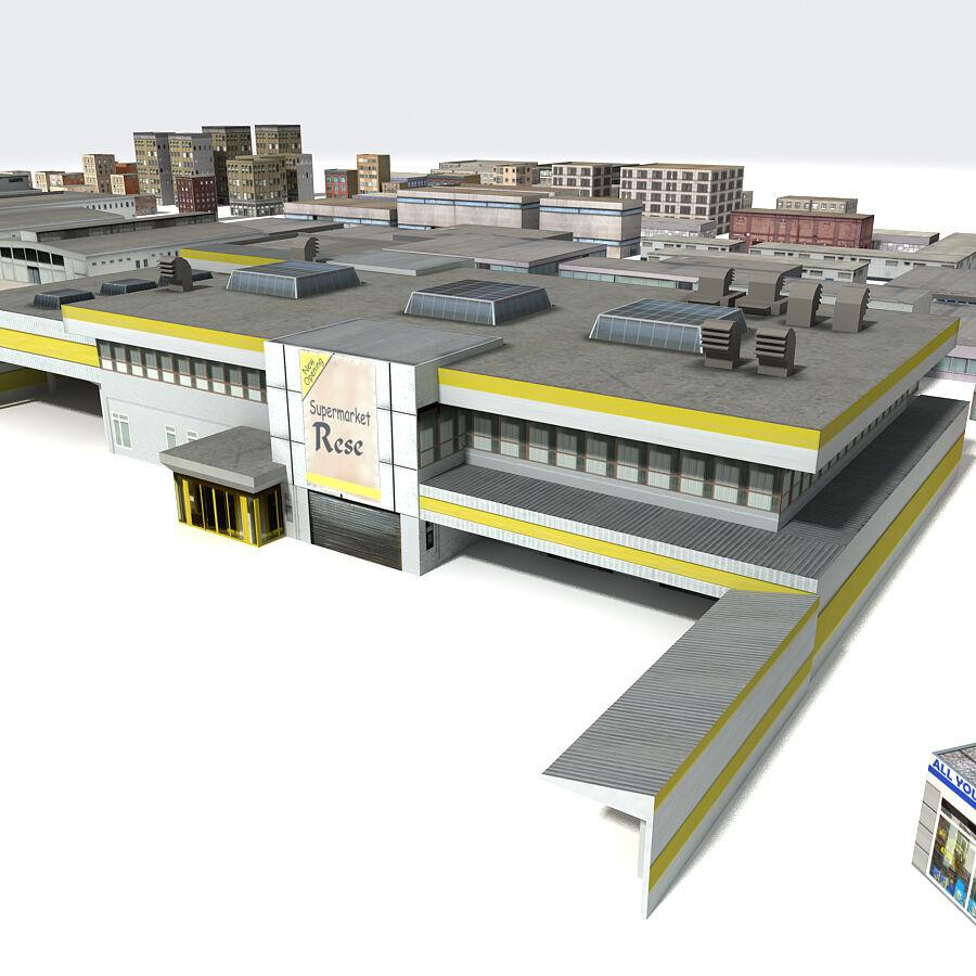 Edificios urbanos de la ciudad royalty-free modelo 3d - Preview no. 3