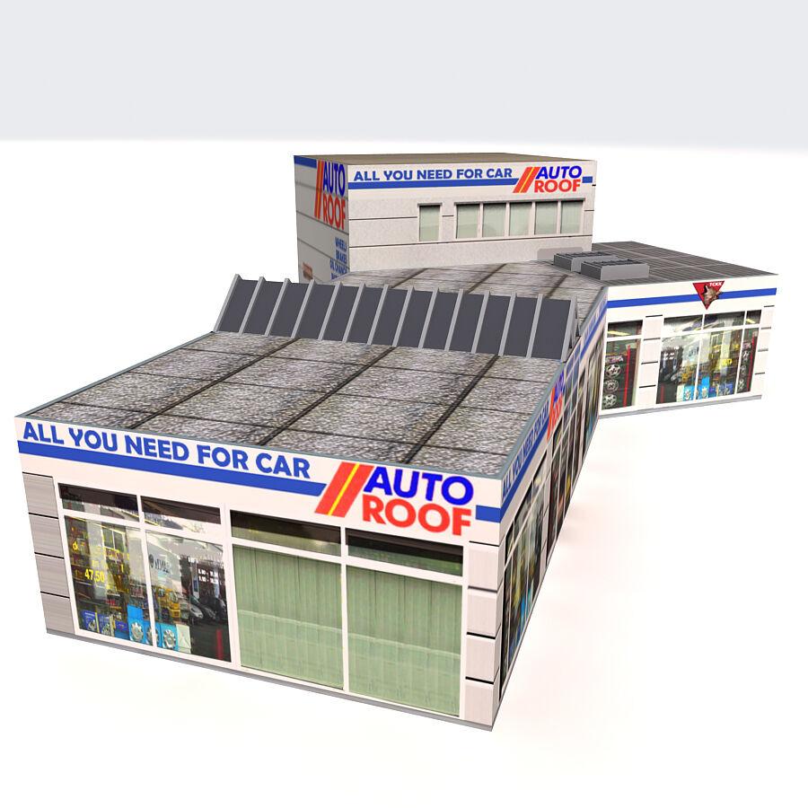 Edificios urbanos de la ciudad royalty-free modelo 3d - Preview no. 5