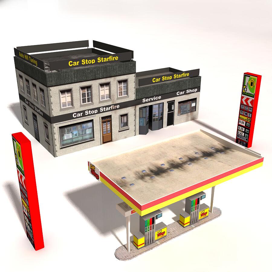 Edificios urbanos de la ciudad royalty-free modelo 3d - Preview no. 6
