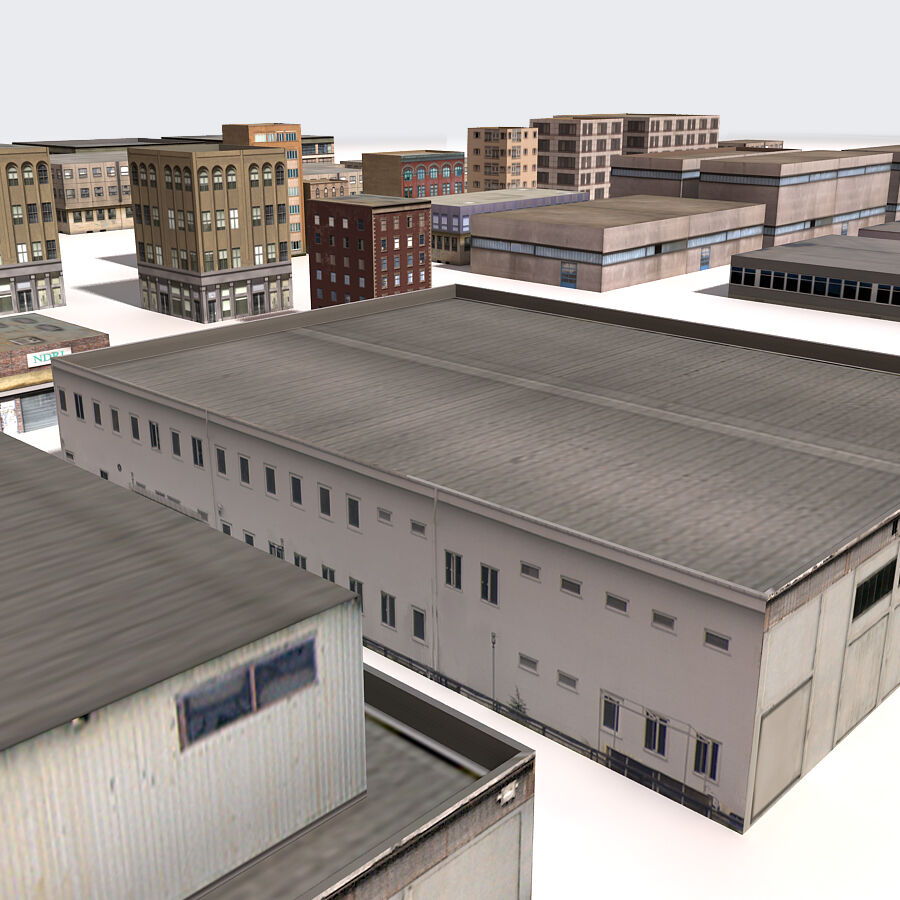 Edificios urbanos de la ciudad royalty-free modelo 3d - Preview no. 17
