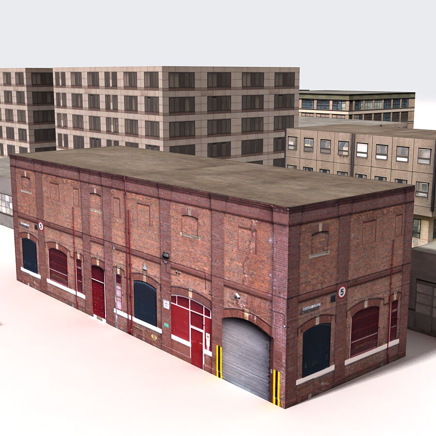 Edificios urbanos de la ciudad royalty-free modelo 3d - Preview no. 23