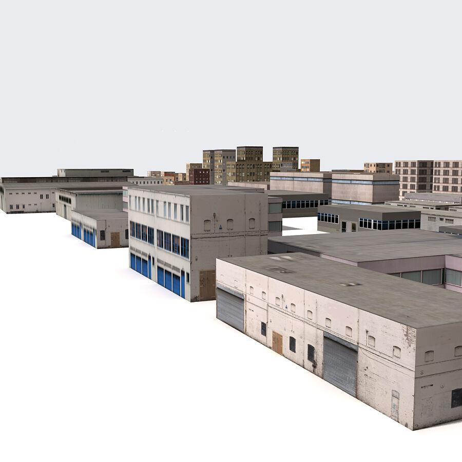 Edificios urbanos de la ciudad royalty-free modelo 3d - Preview no. 13