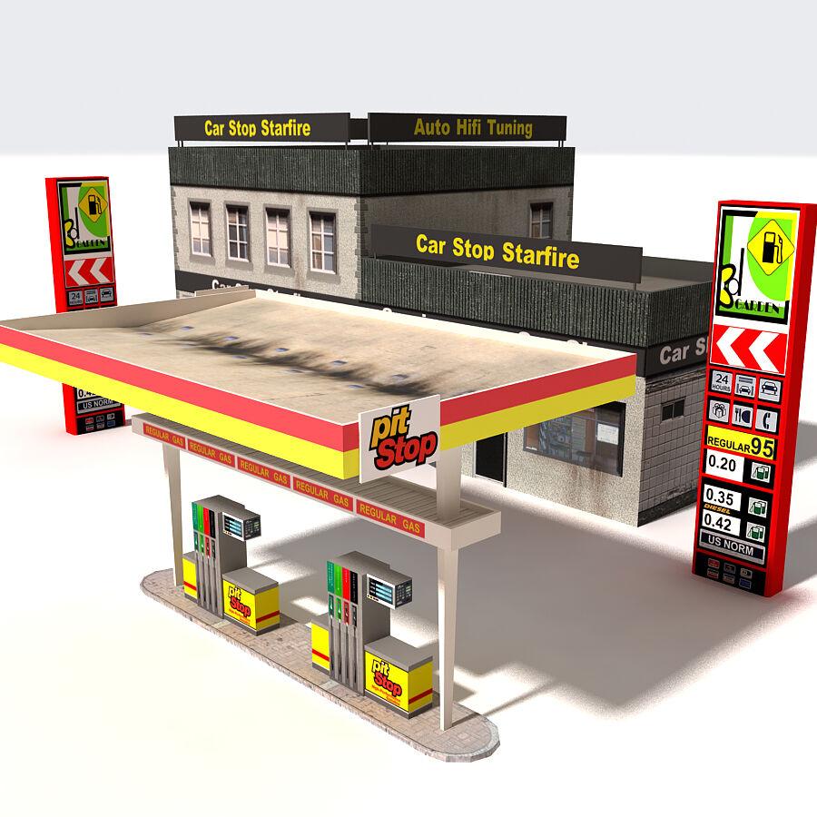 Edificios urbanos de la ciudad royalty-free modelo 3d - Preview no. 10