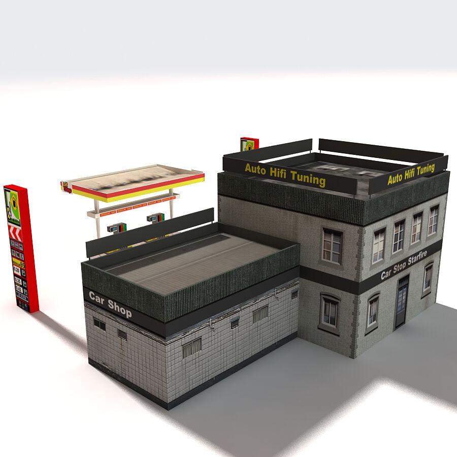 Edificios urbanos de la ciudad royalty-free modelo 3d - Preview no. 7