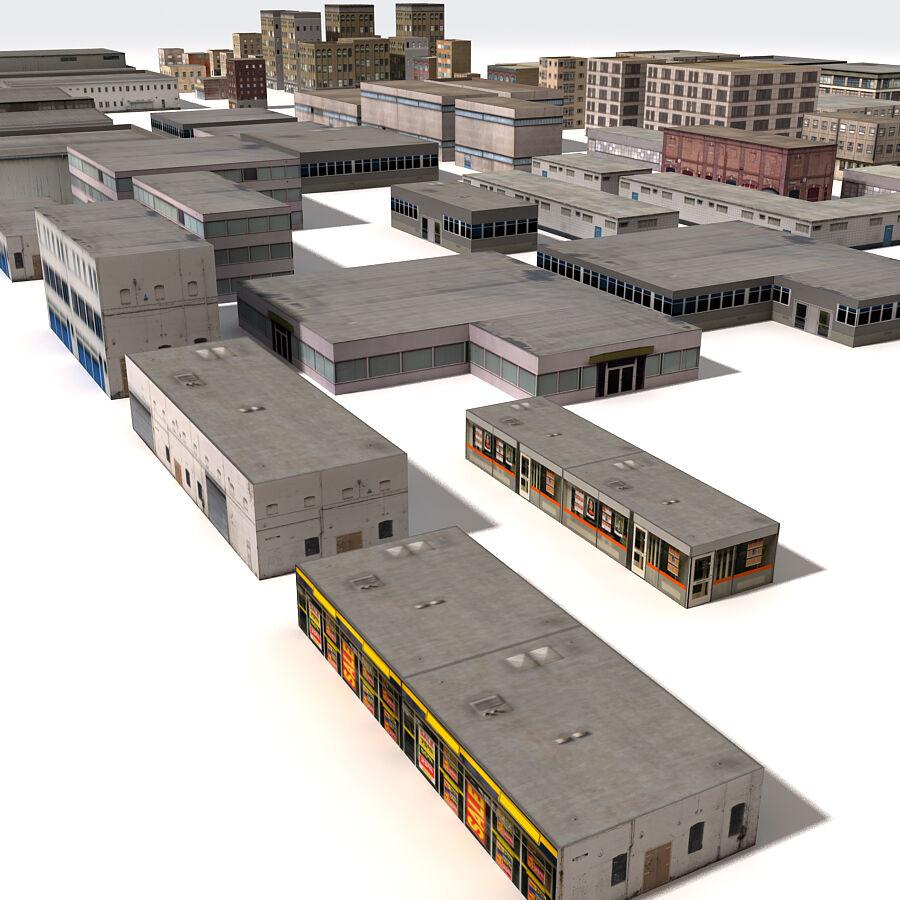 Edificios urbanos de la ciudad royalty-free modelo 3d - Preview no. 12