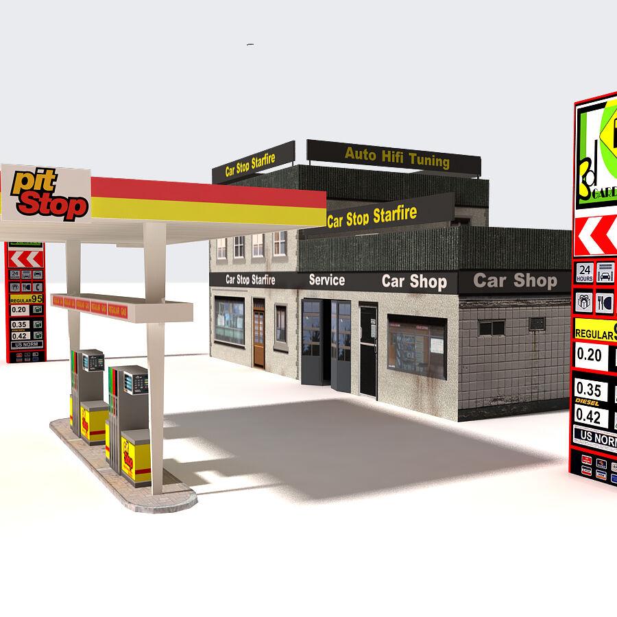 Edificios urbanos de la ciudad royalty-free modelo 3d - Preview no. 11