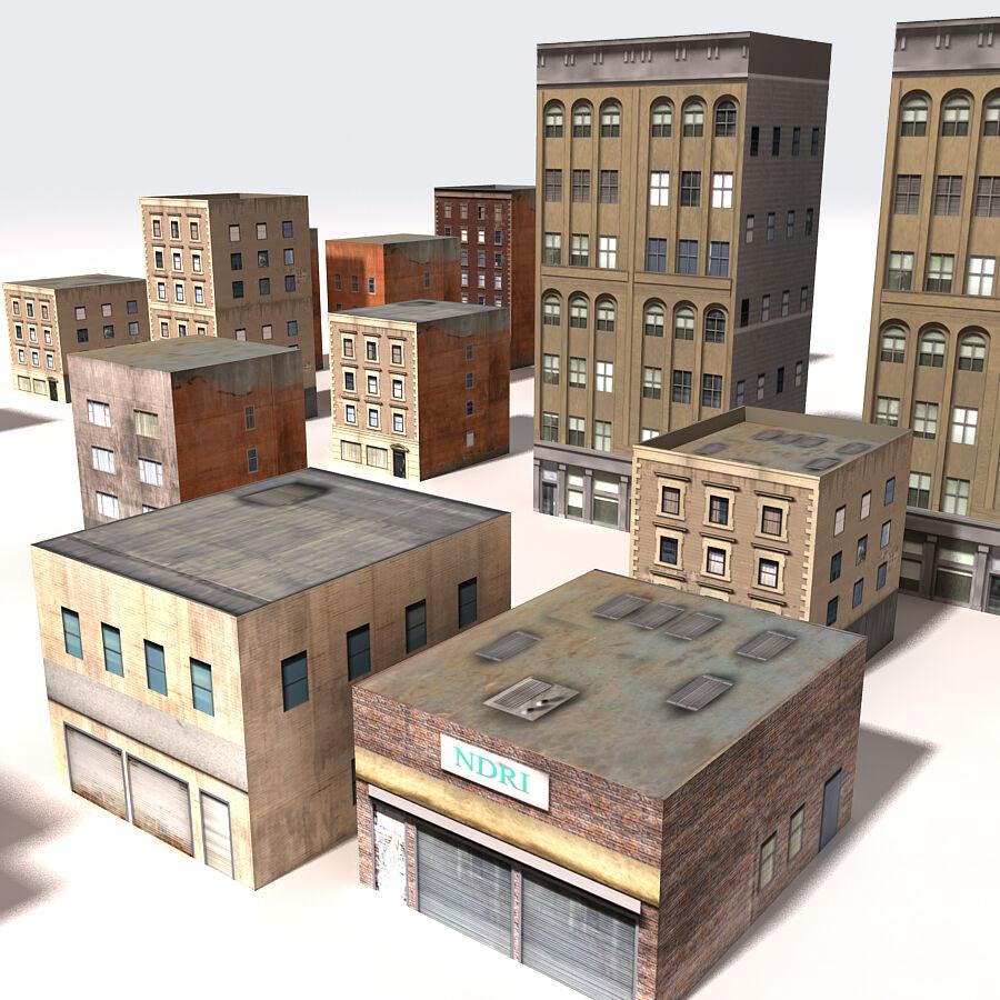 Edificios urbanos de la ciudad royalty-free modelo 3d - Preview no. 20