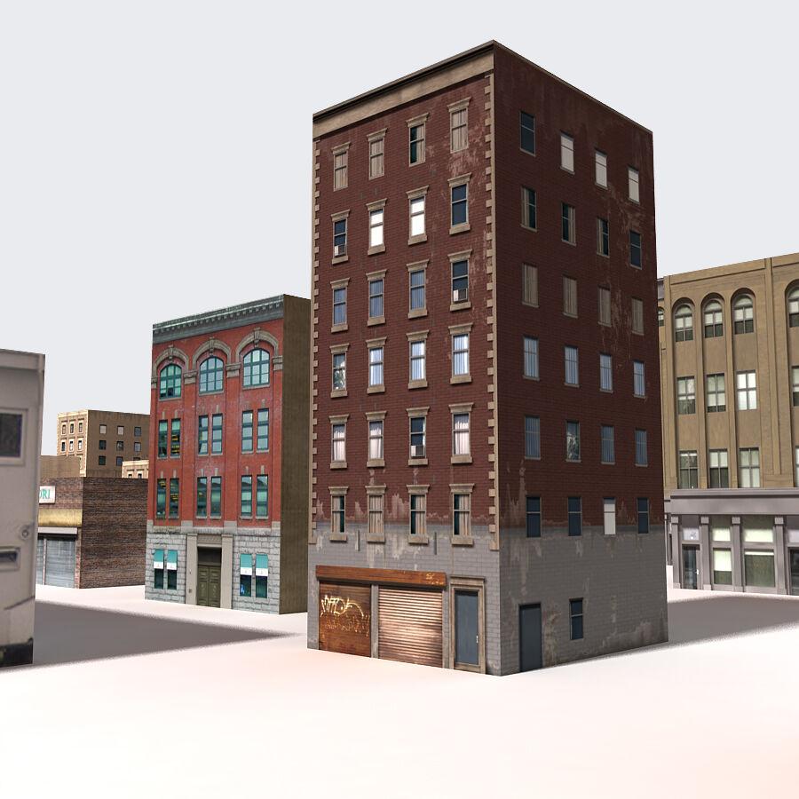 Edificios urbanos de la ciudad royalty-free modelo 3d - Preview no. 19