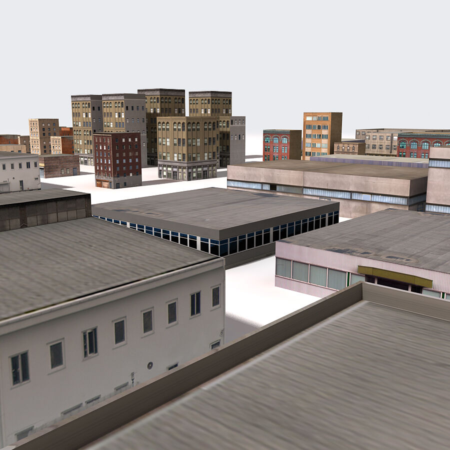 Edificios urbanos de la ciudad royalty-free modelo 3d - Preview no. 16