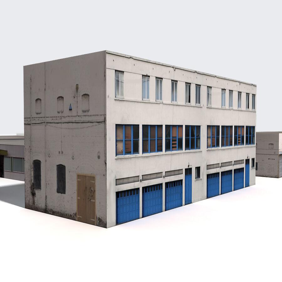 Edificios urbanos de la ciudad royalty-free modelo 3d - Preview no. 14