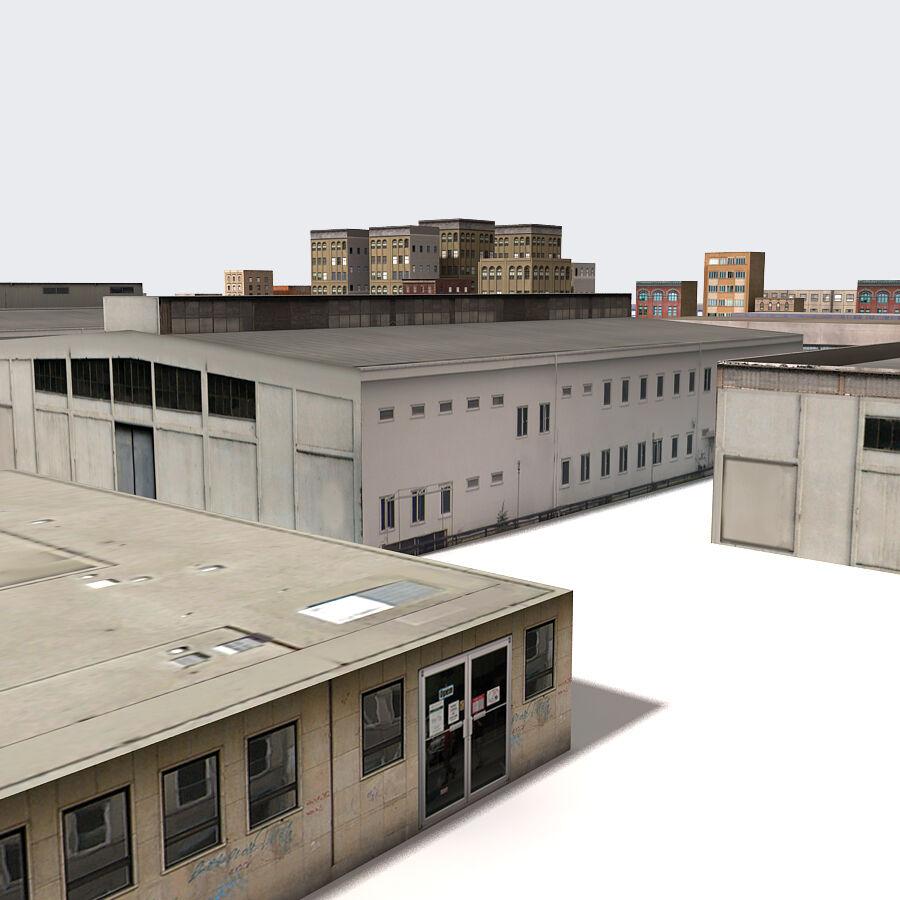 Edificios urbanos de la ciudad royalty-free modelo 3d - Preview no. 15