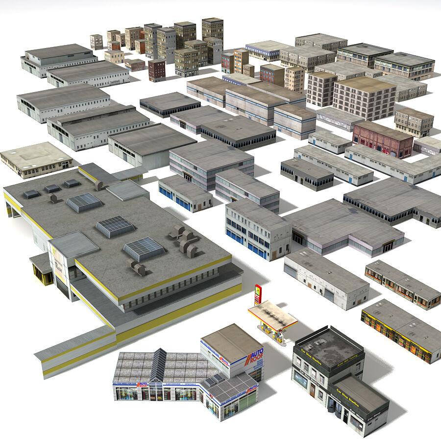 Edificios urbanos de la ciudad royalty-free modelo 3d - Preview no. 1