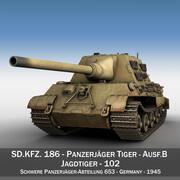SD.KFZ 186 Jagdtiger - Производство Porsche 3d model