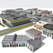 Sanayi Bölgesi Binaları 3d model