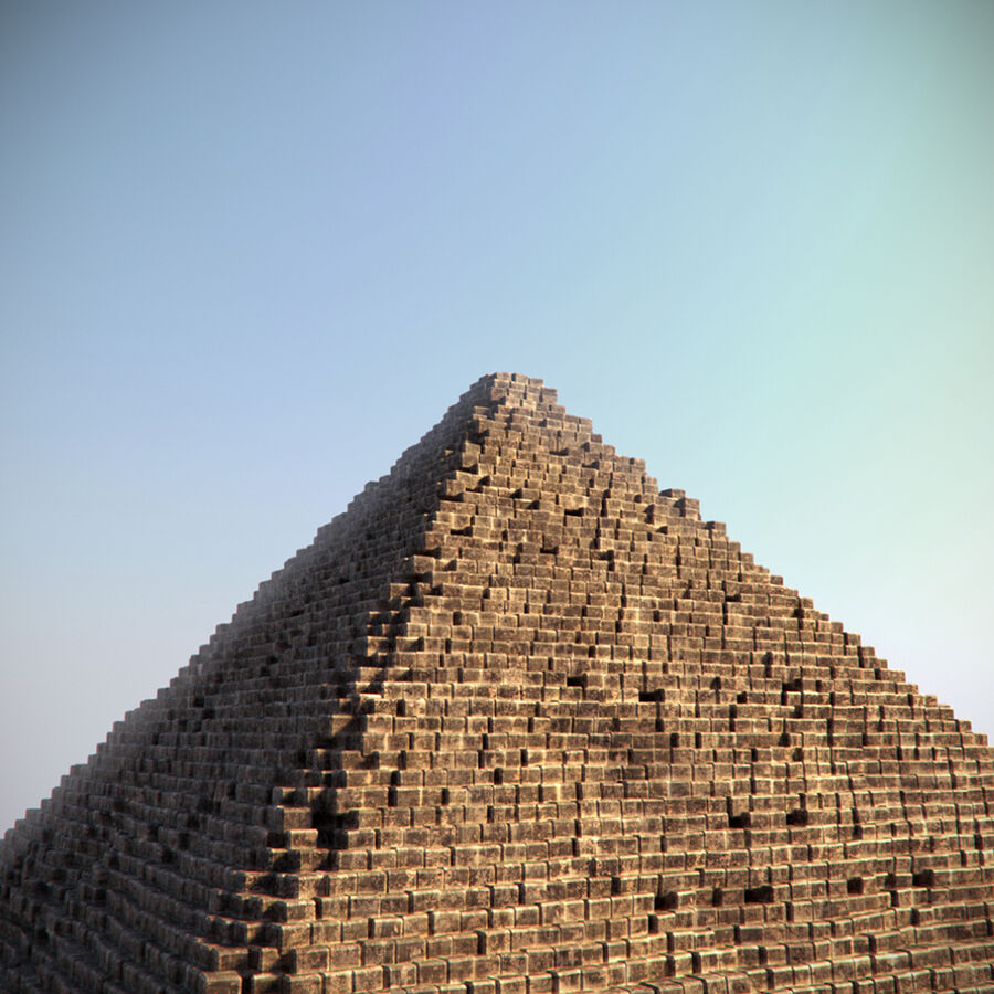 Egypt Giza Pyramid 01 royalty-free 3d model - Preview no. 6