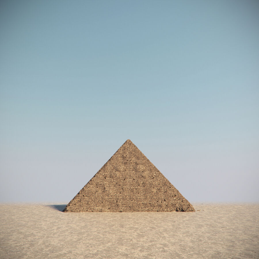 Egypt Giza Pyramid 01 royalty-free 3d model - Preview no. 7