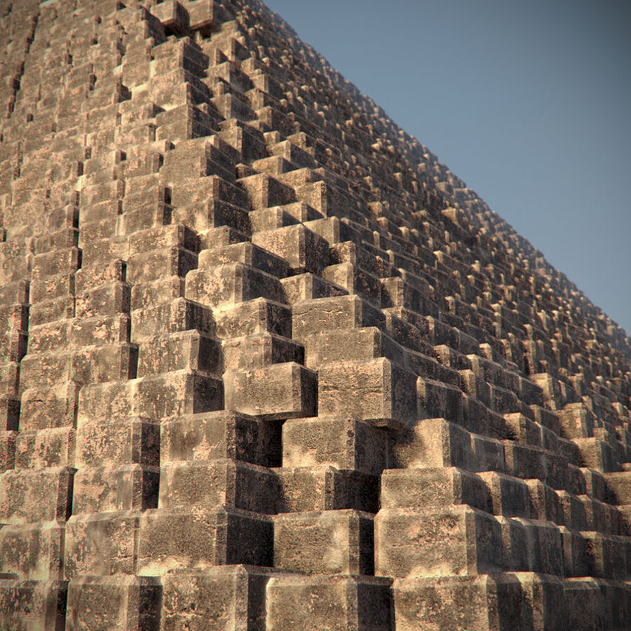 Egypt Giza Pyramid 01 royalty-free 3d model - Preview no. 4