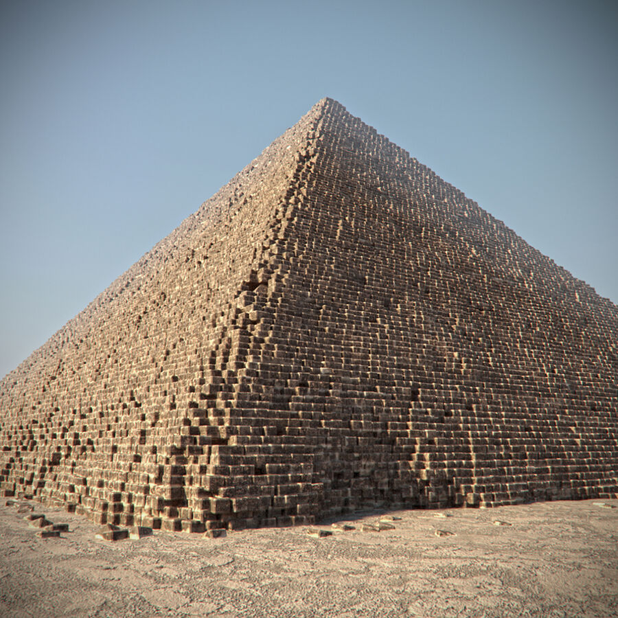 Egypt Giza Pyramid 01 royalty-free 3d model - Preview no. 2