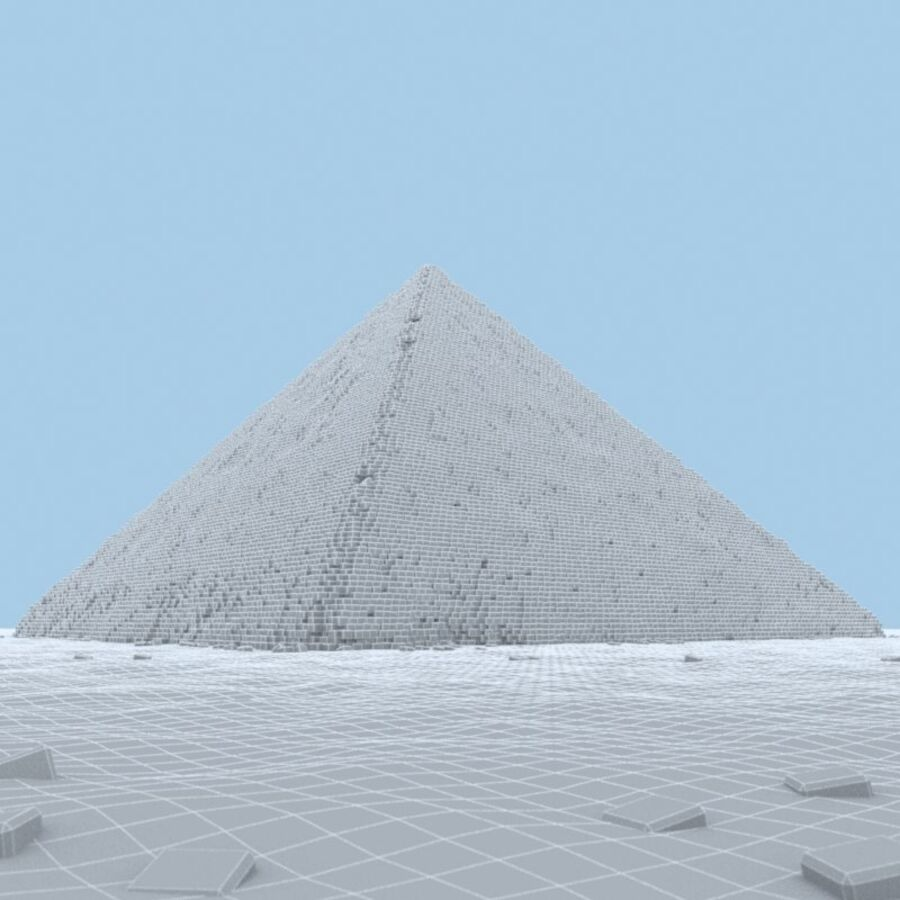 Egypt Giza Pyramid 01 royalty-free 3d model - Preview no. 8