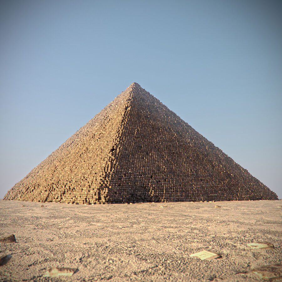 Egypt Giza Pyramid 01 royalty-free 3d model - Preview no. 3