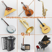 Musical Instruments 9 in 1 3d model