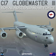 C-17 Globemaster III KRÓLEWSKIE AUSTRALIJSKIE SIŁY POWIETRZNE 3d model