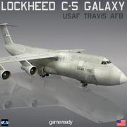 Lockheed C-5 Galaxy USAF TRAVIS 3d model