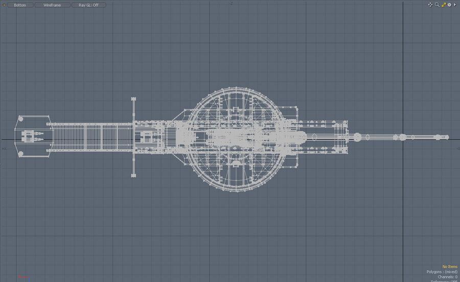 Paris Gun (Paris-Geschütz) royalty-free 3d model - Preview no. 7