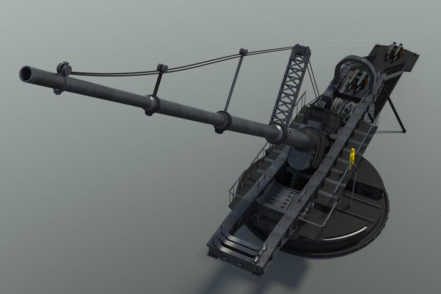 Paris Gun (Paris-Geschütz) royalty-free 3d model - Preview no. 4