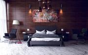 Nowoczesna sypialnia 3d model