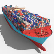 Triple E Class Container Ship 3d model