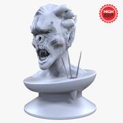 Creature Head statue Sculpt 3d model